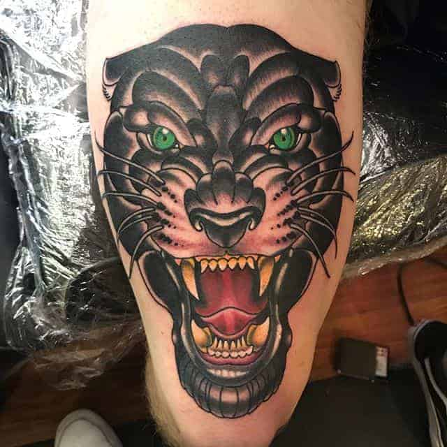 пантера тату цветная