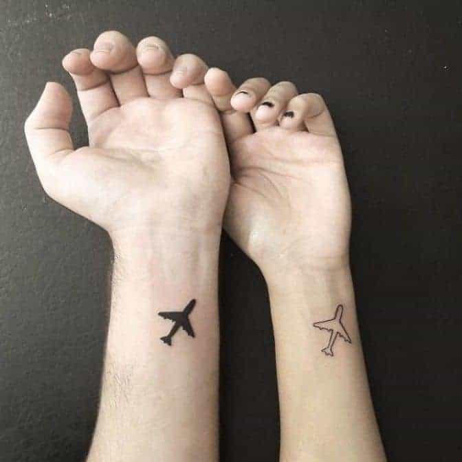 тату парные самолет
