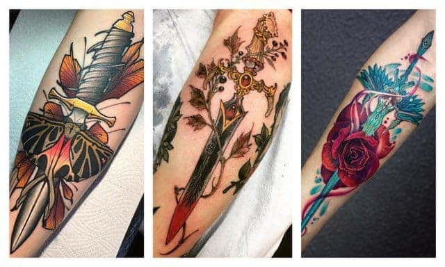 Кинджал татуювання, ніж - значення татуювань