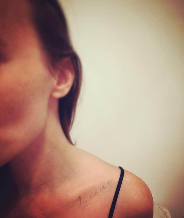 надпись исчезла на плече