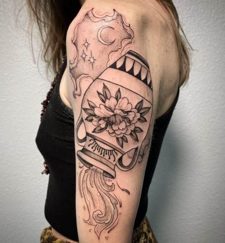 татуировка водолей
