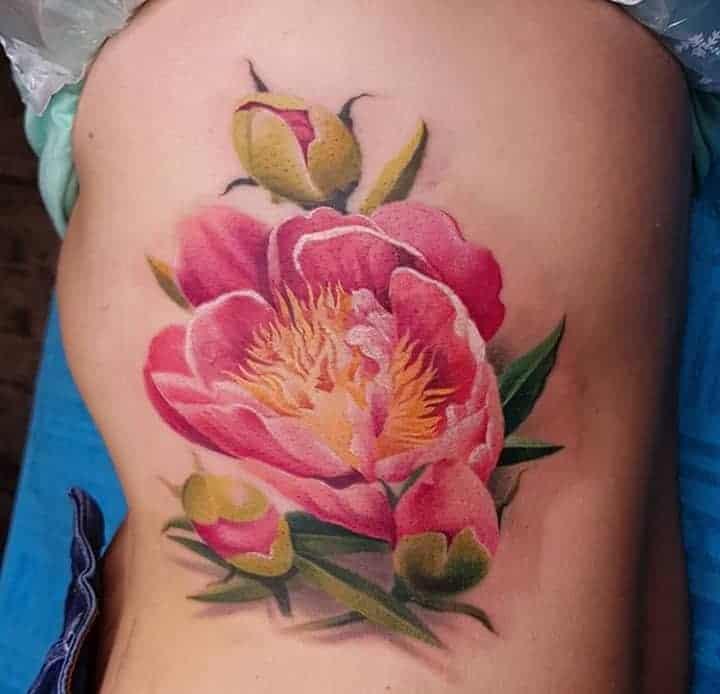 3d тату цветы