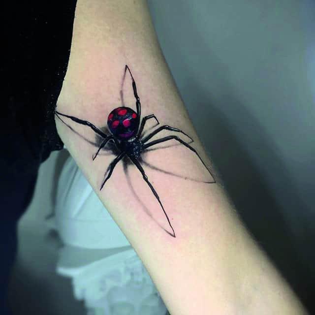 3d тату паук