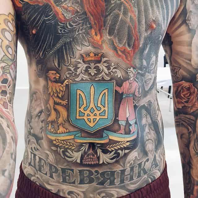 патриотические украинские тату