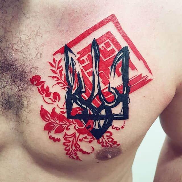 герб украины тату