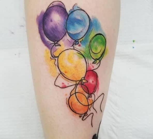 татуювання повітряна кулька