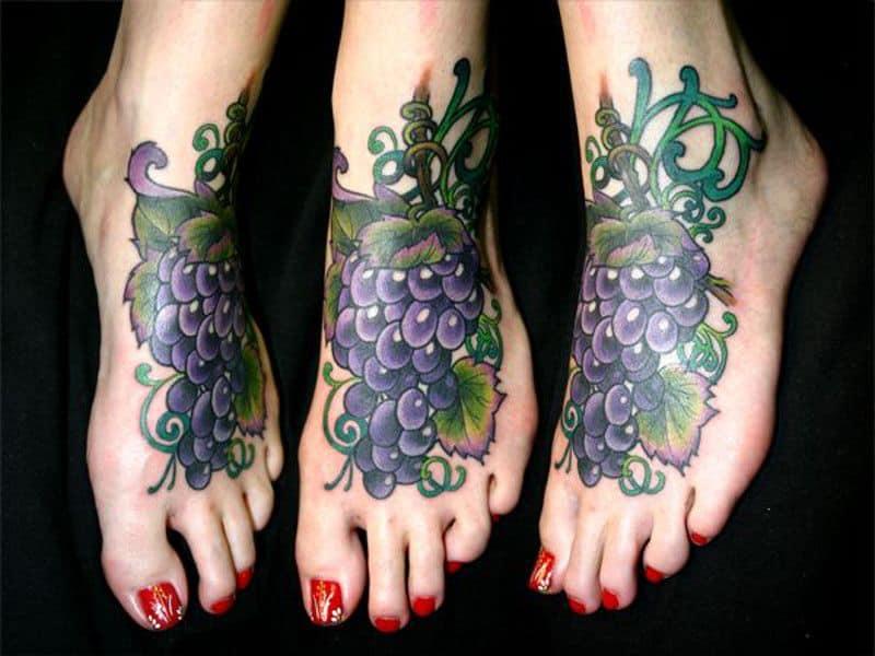 татуювання виноград