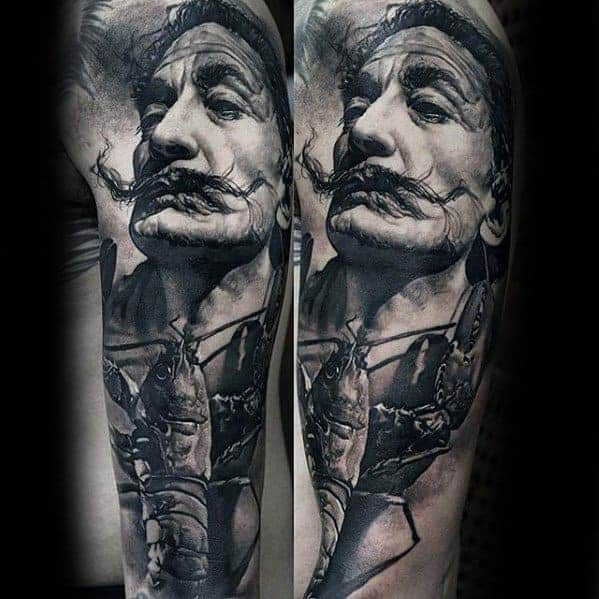 Татуювання з портретом Сальвадора Далі