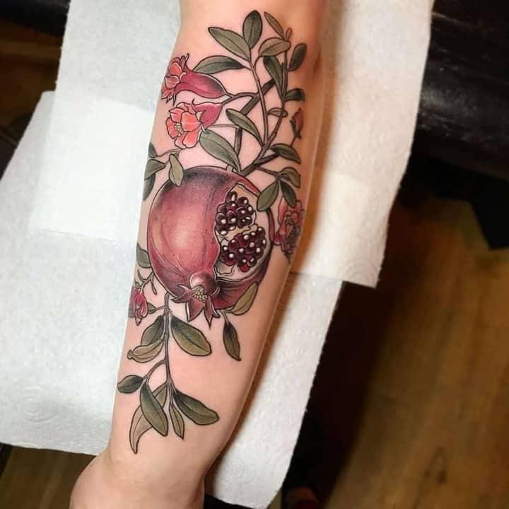 татуювання гранат