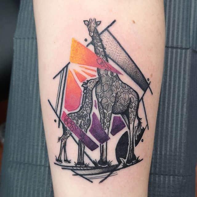жирафы тату