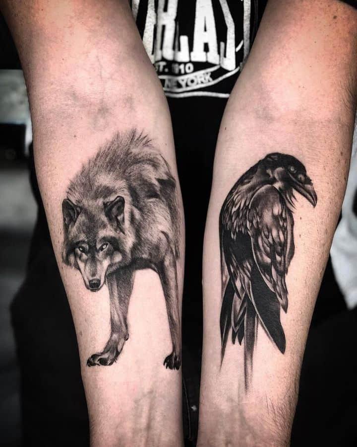 волк и ворон