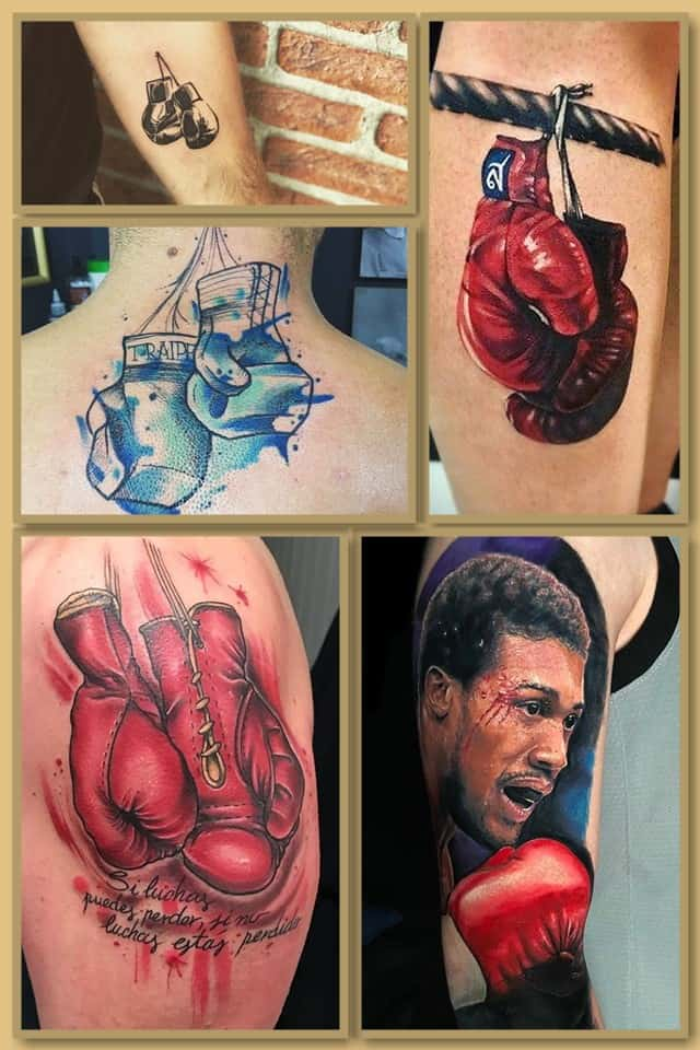 тату боксерские перчатки
