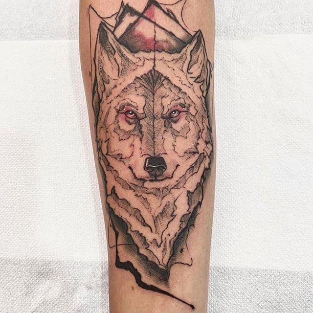 волк татуировка
