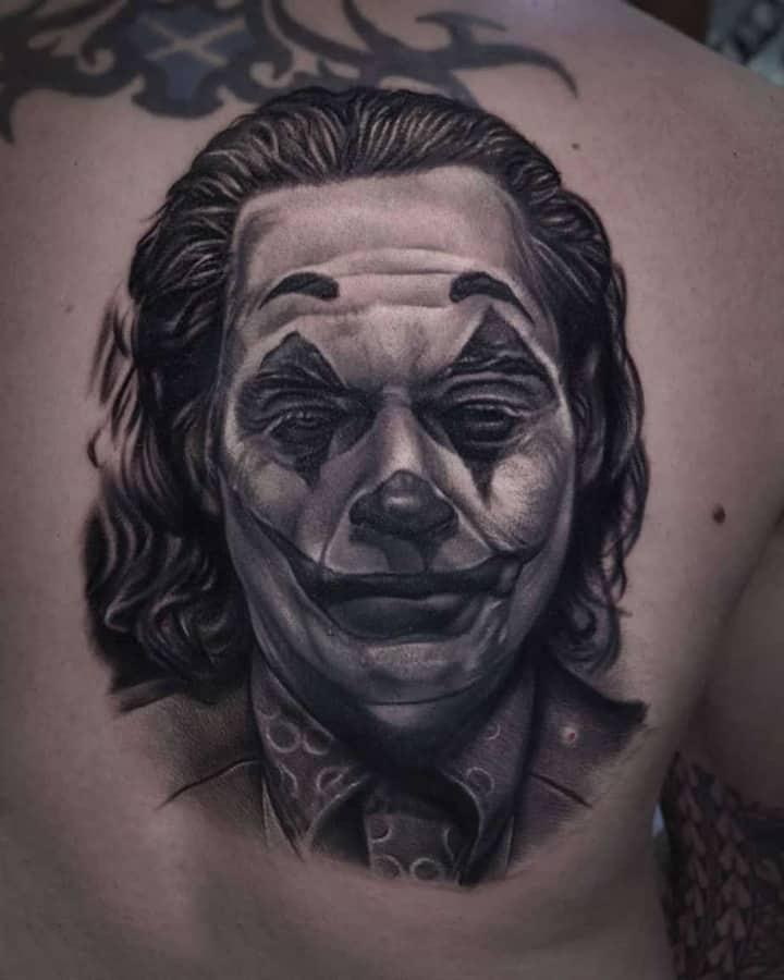 Джокер тату реализм