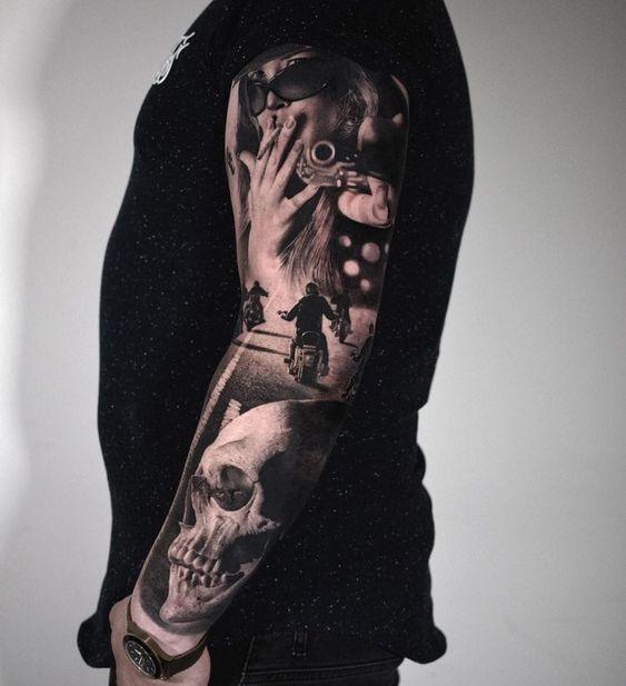 Мужской рукав тату