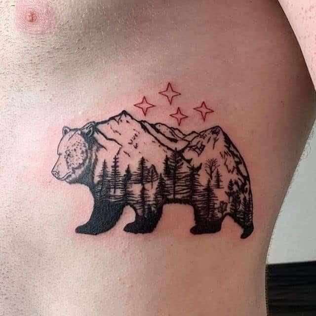 тату ведмідь і зірки