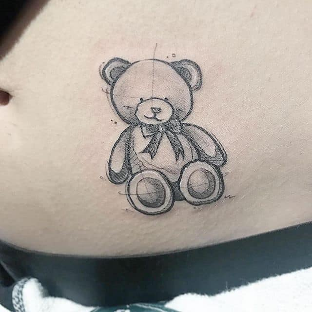 тату плюшевий ведмідь