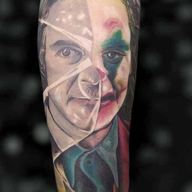 Джокер тату цвет