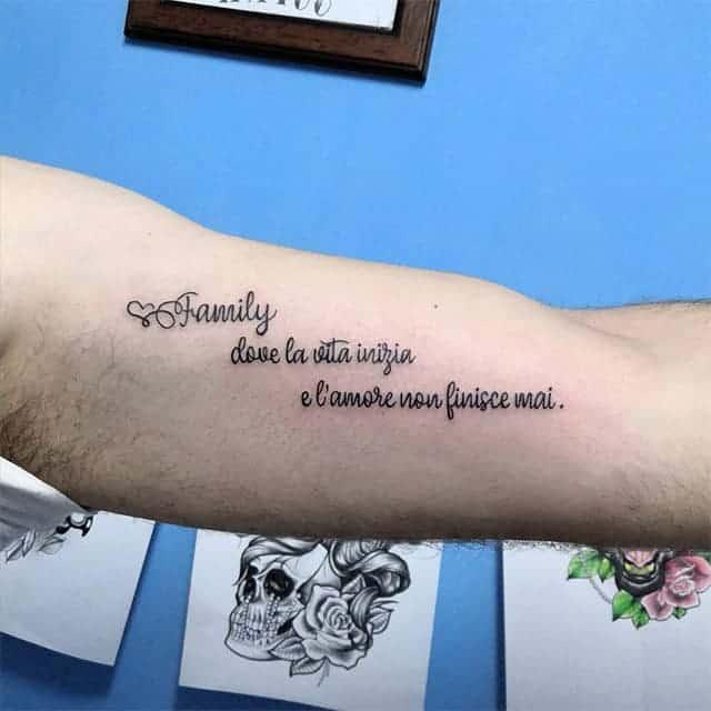 тату фраза на итальянском