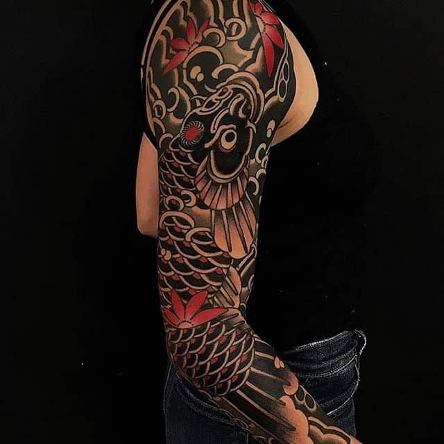 стиль тату япония