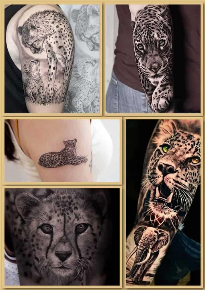 тату леопард, ягуар