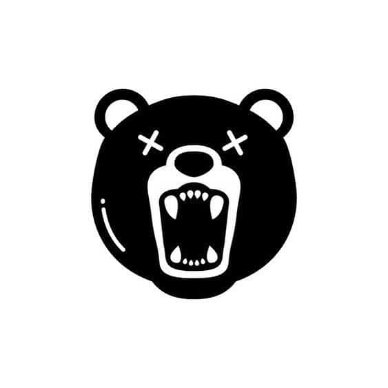 эскиз тату на шею медведь