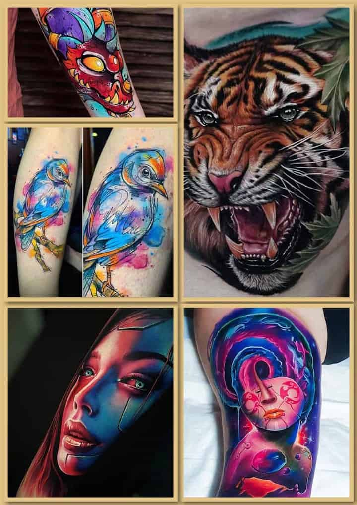 цветные тату