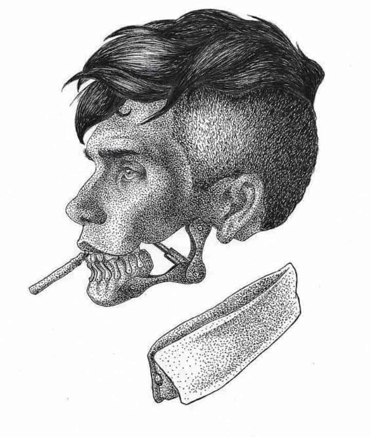 мужской тату эскиз томас шелби