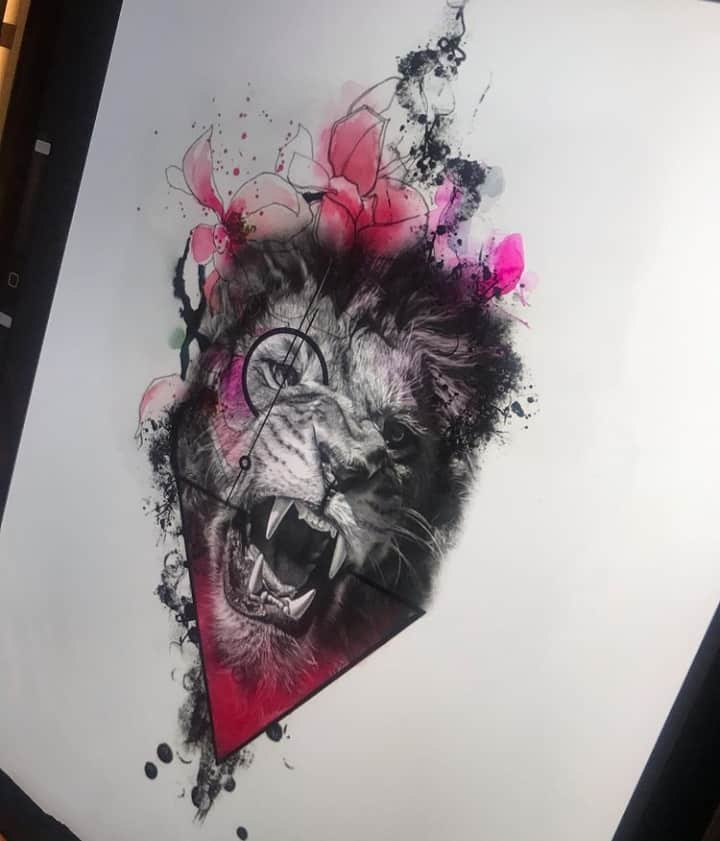 картинки для тату лев