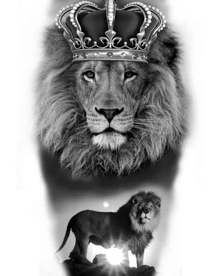 картинки для тату львы