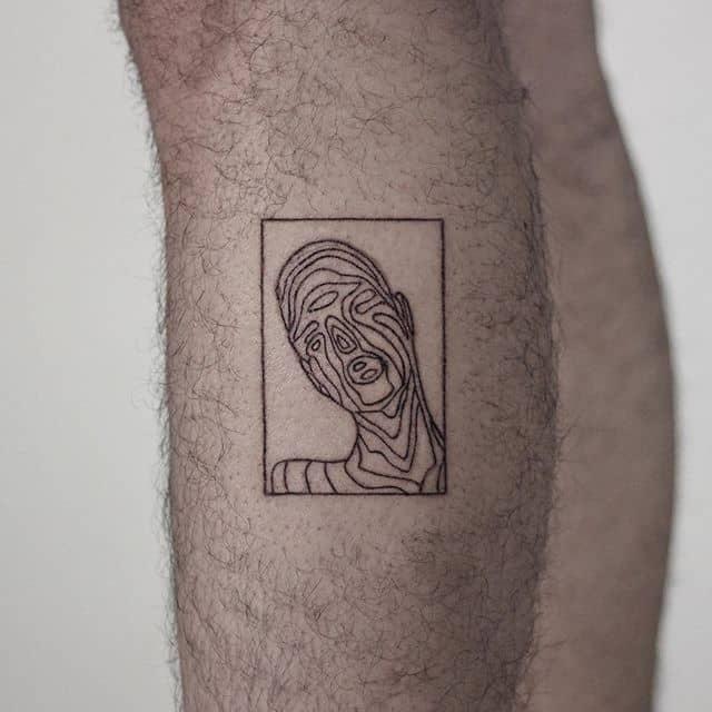 маленькие мужские тату лицо