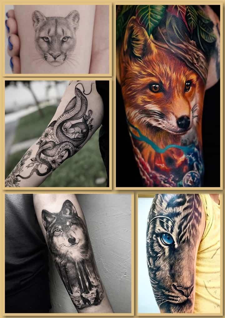 животные тату