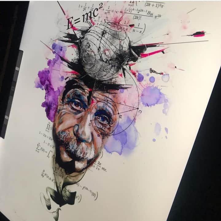 рисунок тату эйнштейн