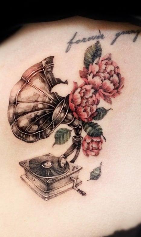 Татуировка патефон