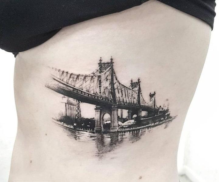 тату мост чб