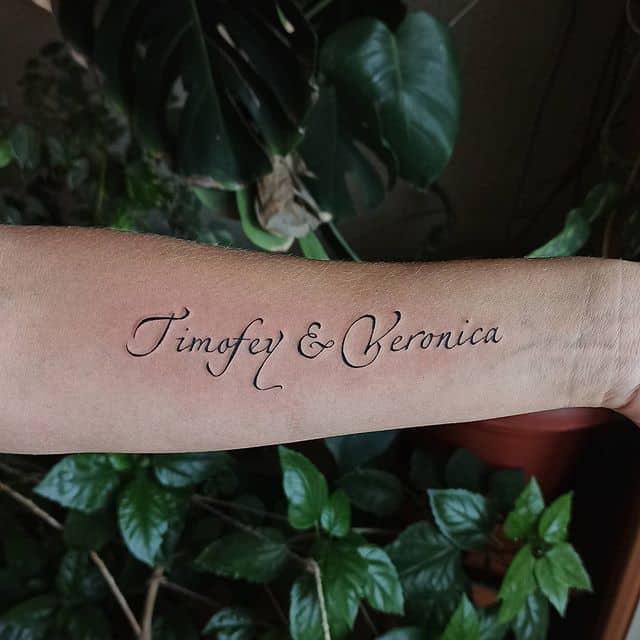 женское тату на руке