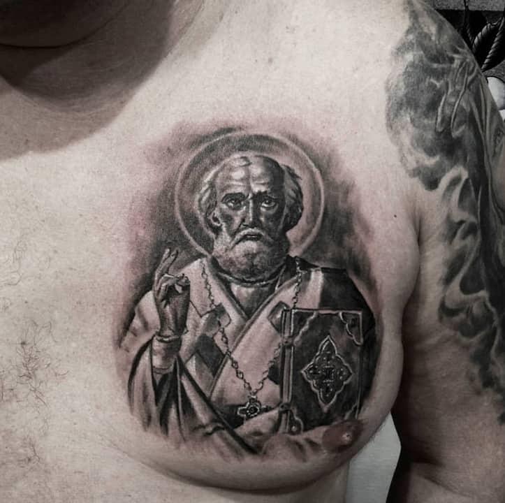 Святой Николай тату