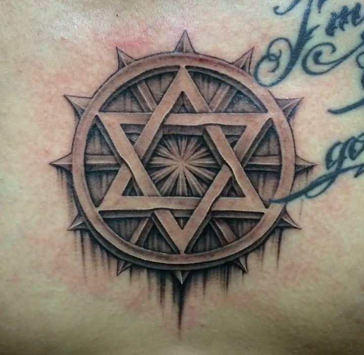шестиугольная гексаграмма (звезда давида)