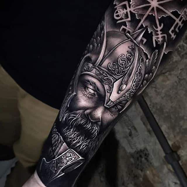 скандинавский бог тату