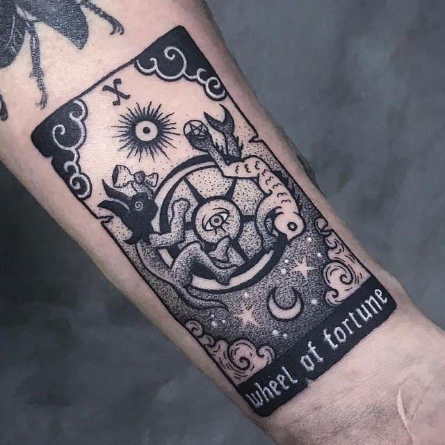 татуировка колесо фортуны