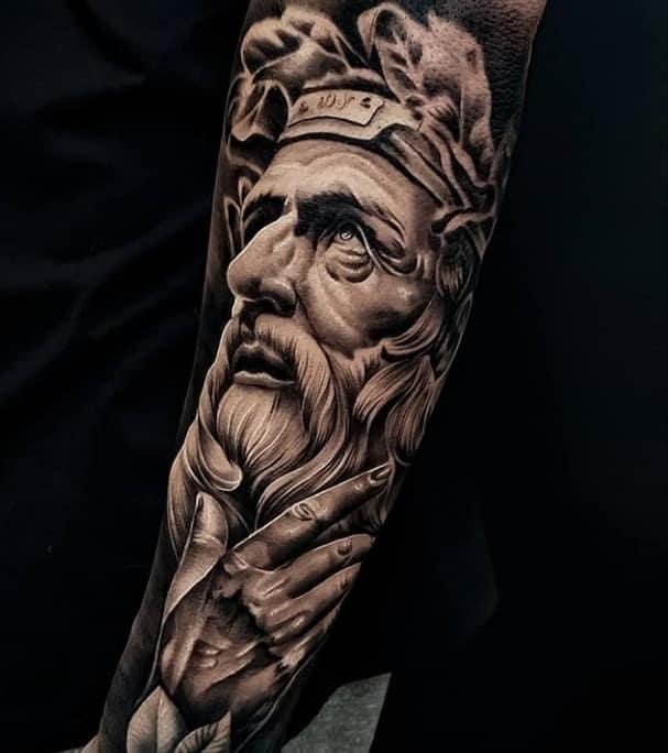 греческое тату бог
