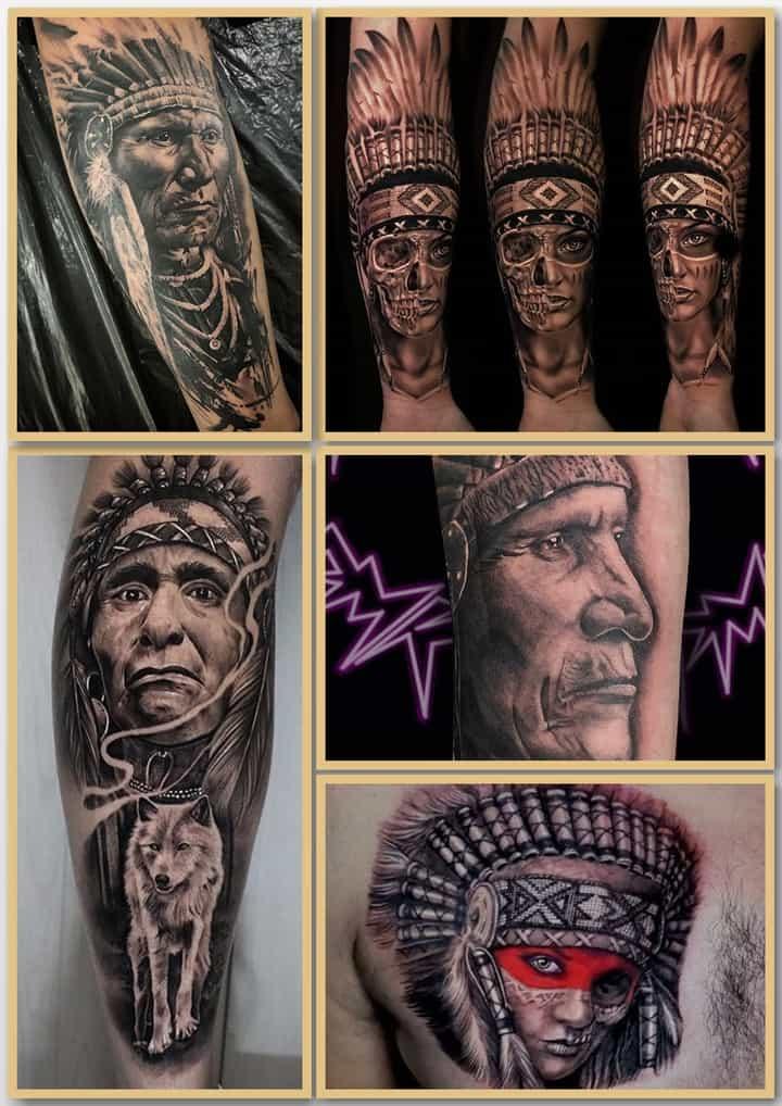 вождь индейцев тату