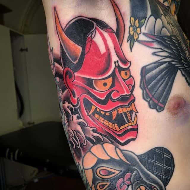 тату японский демон