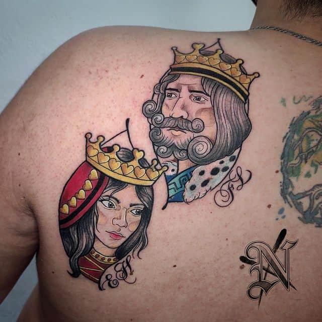 татуировка король и королева