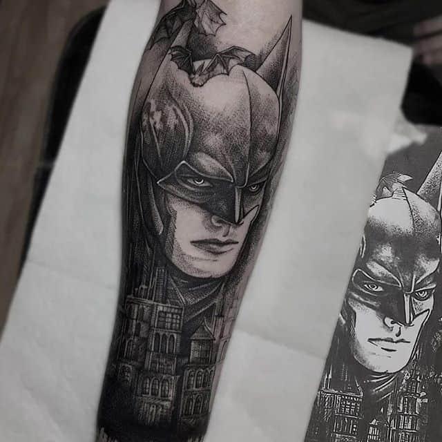 тату бэтмен