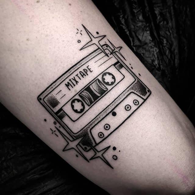 кассета чб тату
