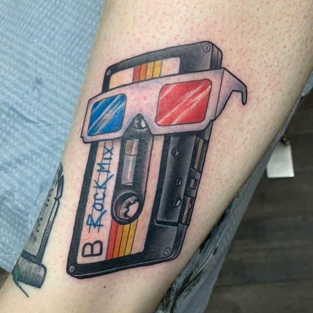 кассета цвет тату
