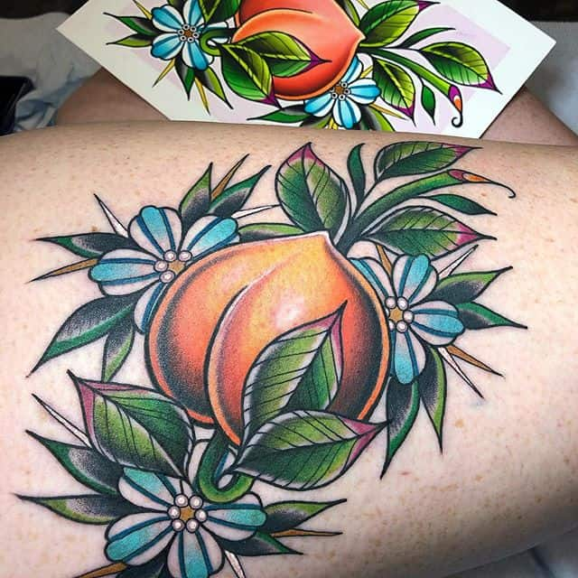тату персика