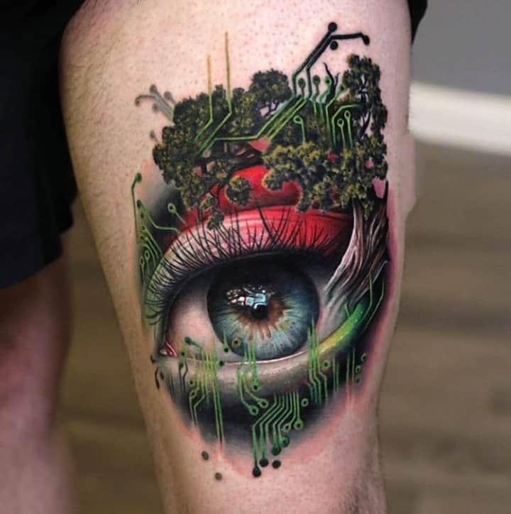 классное тату глаз