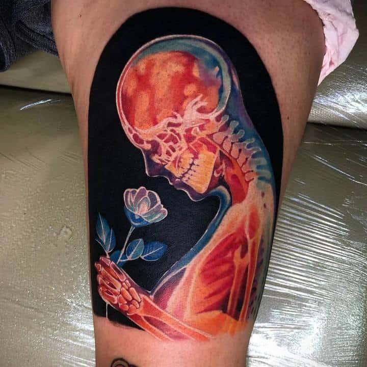 рентген тату человек